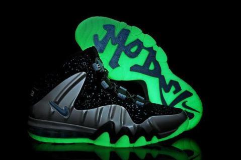 "Nike Barkley Posite Max ""Splatter"" Metallic Silver / Gamma Blue"