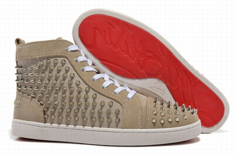 Christian Louboutin Spike Shoes Grey/Sliver Spike