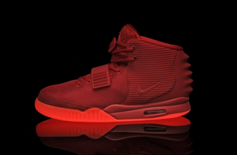Nike Air Yeezy 2 NRG Red october Glow In Dark Now !!!!