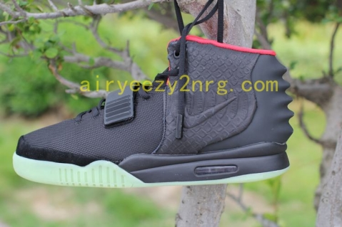 Add to Cart:  High Quality Air Yeezy 2(II) Black/Solar Red Verson3