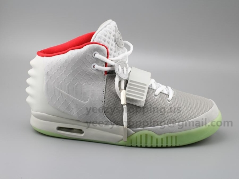 Air Yeezy 2 NRG Wolf Grey/Pure Platinum Glow In Dark Final