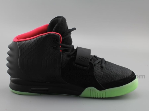 Air Yeezy2 Black/Solar Red Super Perfect Version (Recommended)