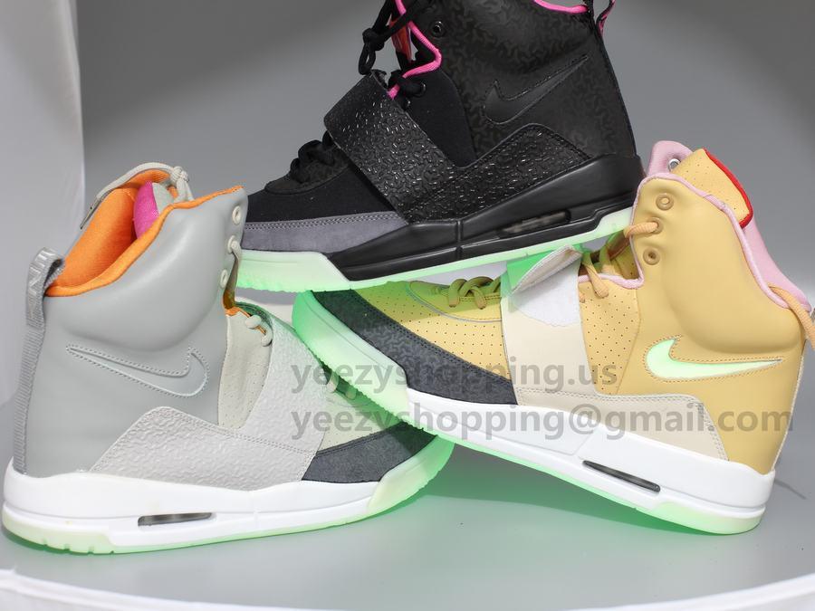 8266d661be2fb Nike Air Yeezy 2 Wolf Grey Pure Platinum Version2.  Air Yeezy 1 Grey Orange Sneakers 02